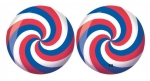 Viz-A-Ball Red/White/Blue Spiral Glow